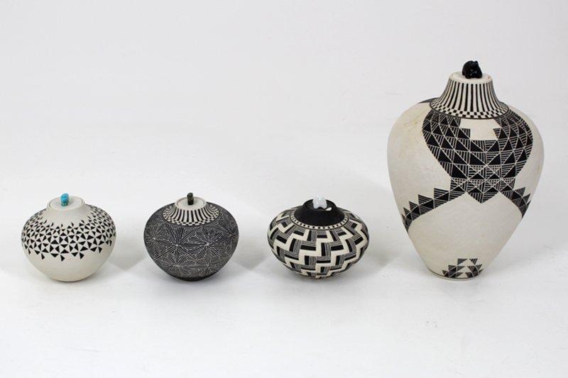 Acoma Pottery (four)