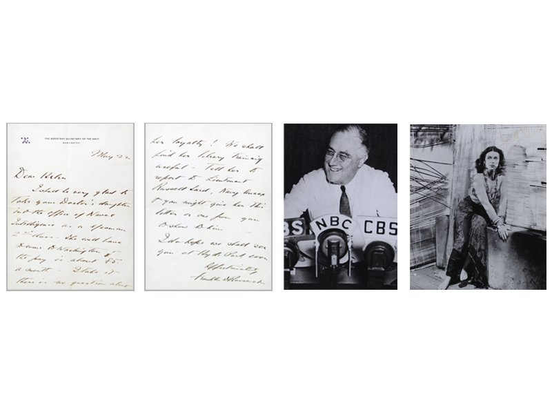 Autographs: Franklin D. Roosevelt & Hedy LaMarr (two)