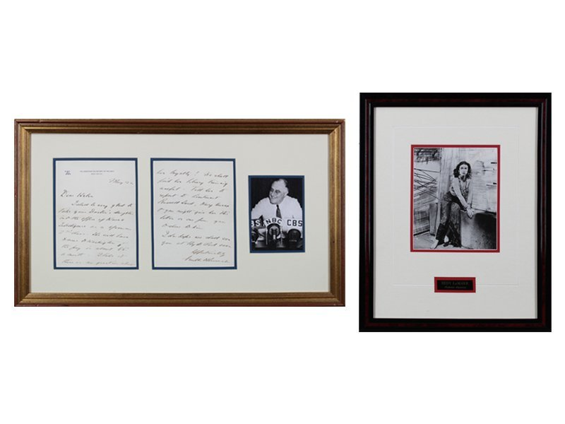 Autographs: Franklin D. Roosevelt & Hedy LaMarr (two) - 7