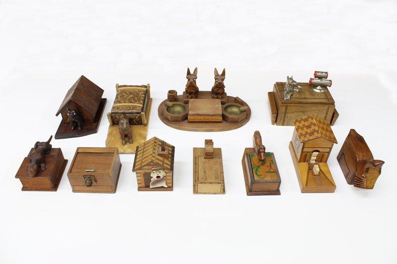 Vintage Wooden Cigarette Boxes (eleven)