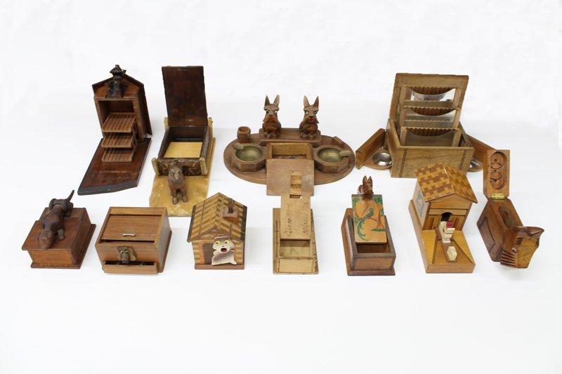 Vintage Wooden Cigarette Boxes (eleven) - 2