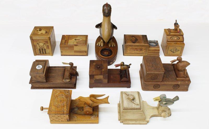 Vintage Wooden Cigarette Boxes (ten)