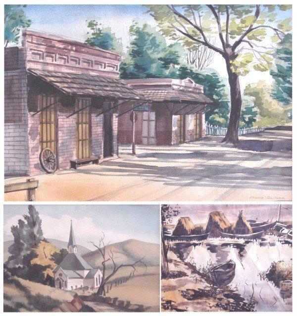 9: American Watercolors (three)