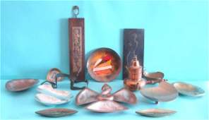 121: Decorative Arts: Mexican & Israeli Metalware (four