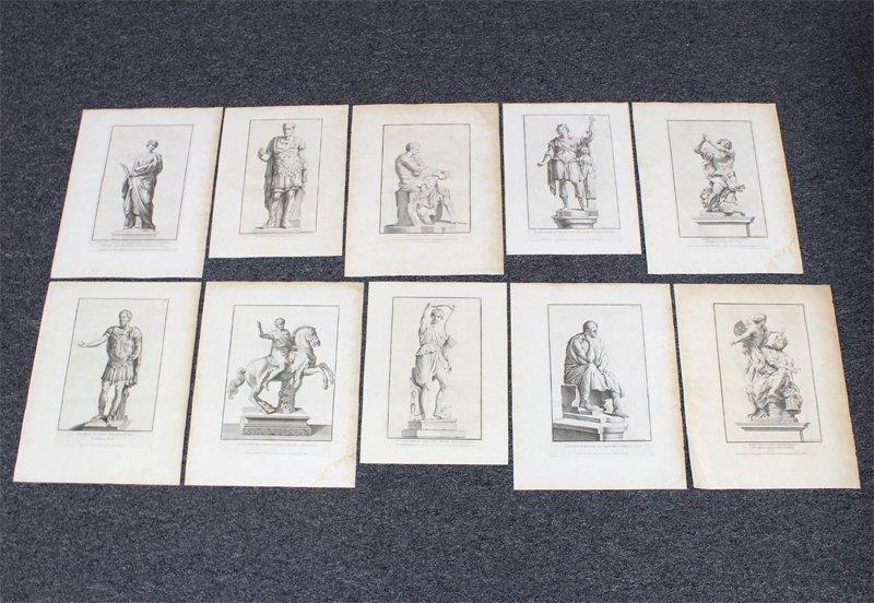 Antique Prints by Francesco Aquila (3), Claude Randon,