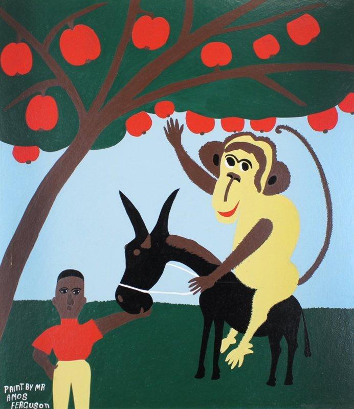 Amos Ferguson (1920-2009) Outsider artist Bahamas - 2