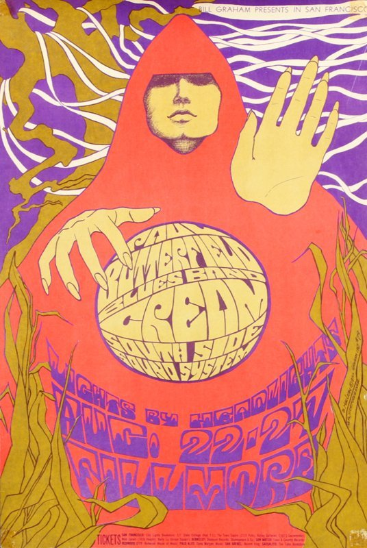 1960's Psychedelic Rock n Roll poster: