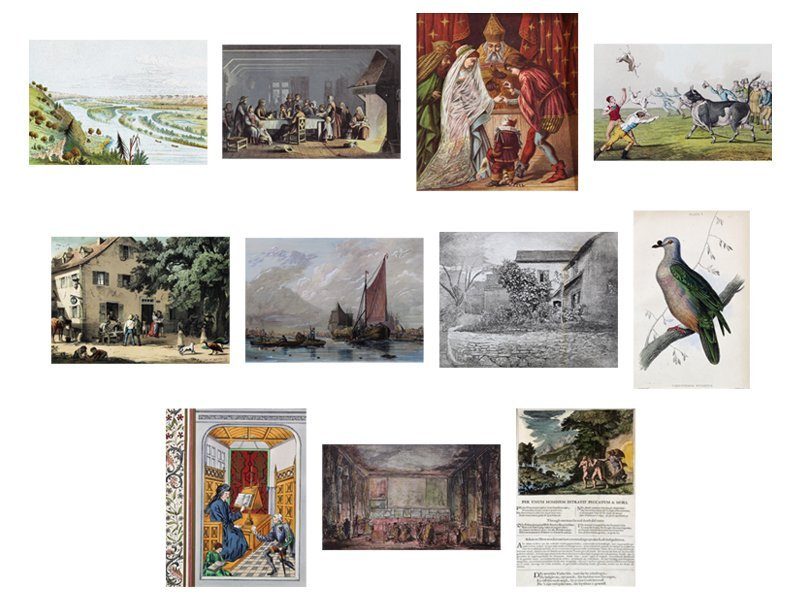 Antique Print Collection (eleven)