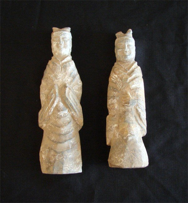 24: Asian Stone figures (two)