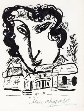 "Chagall, Marc - Lithograph signed ""Marc Chagall"" in"