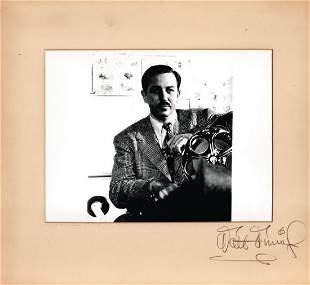 Disney, Walt - Original vintage off-white presentation
