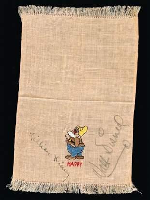 Disney, Walt and Lilian - Beige-fringed handkerchief