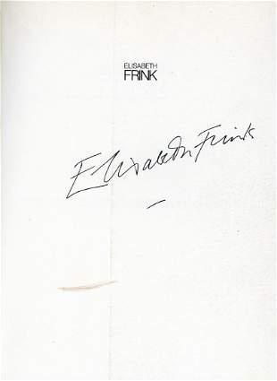 Frink, Elizabeth - ELIZABETH FRINK. SCULPTURE AND