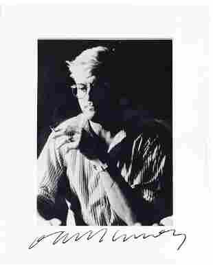 Hockney, David - Black and white, hlaf length