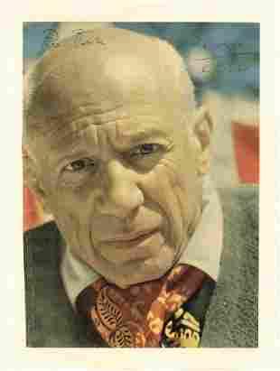 Picasso, Pablo - Colour magazine photograph of Pablo