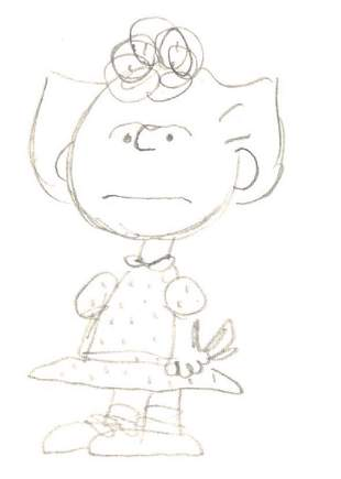 Schulz, Charles - Original unsigned pencil sketch of
