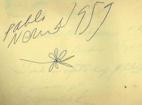 Autograph Album - Incl. Pablo Neruda - Autograph album