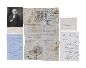 19th Century Politicians - Collection of letters and