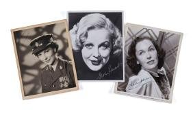 Actresses - Collection of black and white signed studio