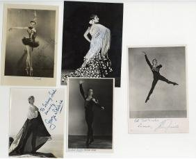 Ballet Autographs - Black and white signed vintage
