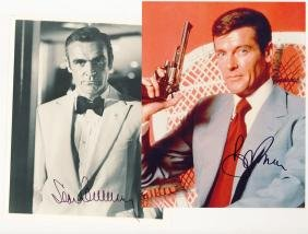Bond, James - Sean Connery & Roger Moore - Black and