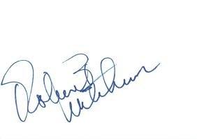 Mitchum, Robert - Ink autograph by Robert Mitchum,