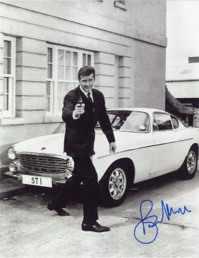 Moore, Roger - Black and white, full length photograph