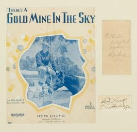 Skelton, Red - Music score cover for 'There's a Gold