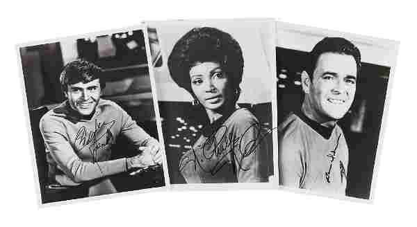 Star Trek Interest - Three black and white, head and
