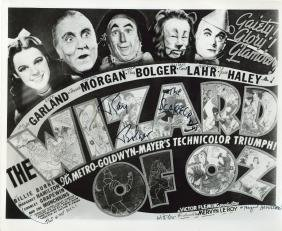 Wizard of Oz - Black and white reproduction film poster