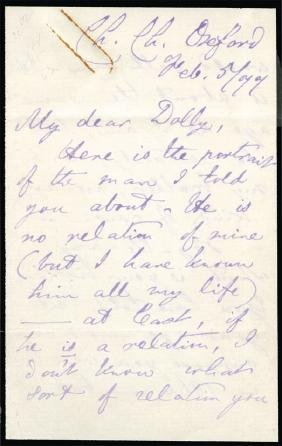 Dodgson, Charles Lutwidge - Autograph letter signed to