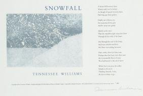 Williams, Tennesse - SNOWFALL, limited edition print,