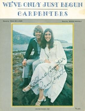"""Carpenters, The - Sheet music for """"We've Only Just"""