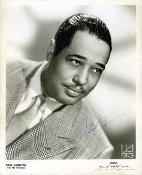 Ellington, Duke - Black and white photograph of Duke