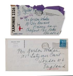 Farrer, Geraldine - Two autograph letter signed to