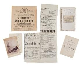Malten, Therese & others - Collection of programmes,
