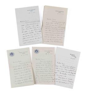Stevenson, Frances - Unique collection of letters from