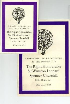 Churchill, Winston - THE ORDER OF SERVICE and the