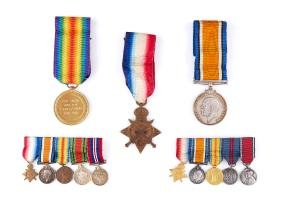 WW1 Medals - British War Medal.Obverse: Head of King