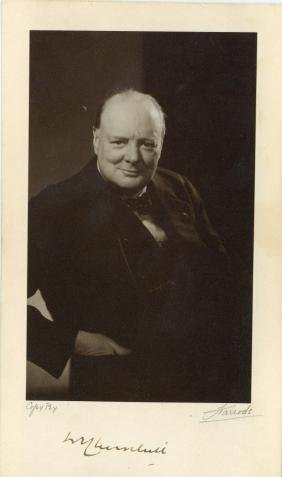Churchill, Winston - Vintage photo of Winston Churchill