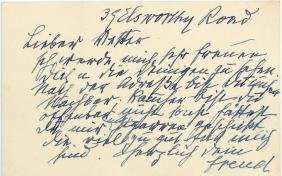 Freud, Sigmund - Autograph note signed in German to