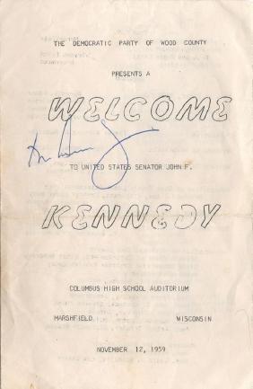 Kennedy, John Fitzgerald - Signed programme booklet