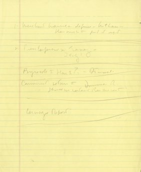 Kennedy, John Fitzgerald - Autograph note by John F.