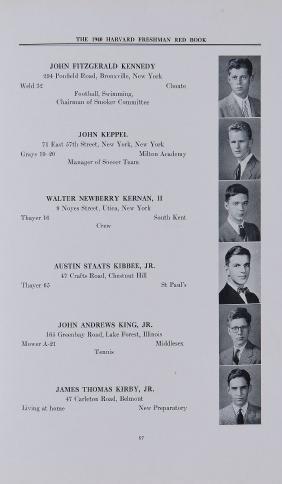 Kennedy, John Fitzgerlad - THE HARVARD FRESHMAN RED
