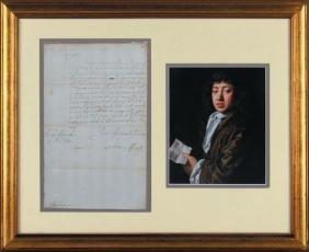 Pepys, Samuel - Document signed addressed to Edward