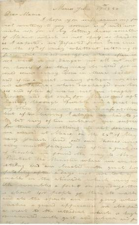Porter, David Dixon - Autograph letter signed from the
