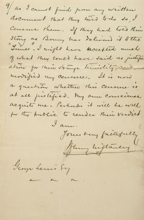 Stanley, Henry Morton - AUTOGRAPH LETTER SIGNED TO HIS