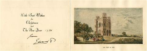 Edward VIII, King - Royal Christmas card signed by