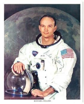 Collins, Michael - Signed colour photograph of Collins