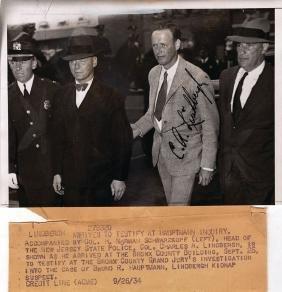 Lindbergh, Charles - Photograph of Charles Lindbergh,